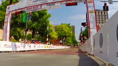 womens division USA Cycling Nationals finals competition cycling in Chattanooga, - stock footage