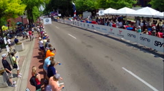 Womens division USA Cycling Nationals finals competition cycling in Chattanooga, Stock Footage