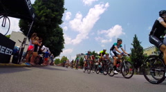 Mens division USA Cycling Nationals finals competition cycling in Chattanooga, Stock Footage