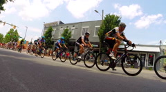 Mens division USA Cycling Nationals finals competition cycling in Chattanooga, - stock footage