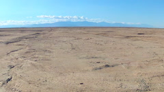 Salton Sea Dry Lake Bed Mud Flats Wide- Niland CA Stock Footage
