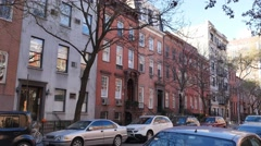 4K New York Style Apartment Building Establishing Shot - stock footage