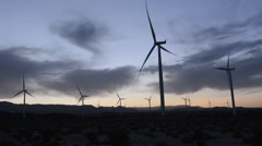Wind Power green energy in El Central California CA for better ecology and Save Stock Footage