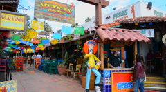 Old San Diego California for tourists area colorful Mexican Cafe restaurant San - stock footage