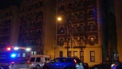 4K New York Style Apartment Building Establishing Shot - stock footage