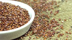Rotating red quinoa (not loopable) Stock Footage