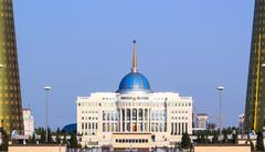 Akorda – the residence of the president of the republic of kazakhstan Stock Photos