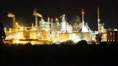 Industrial Area at night Stock Footage