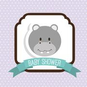 baby shower design, vector illustration eps10 graphic - stock illustration
