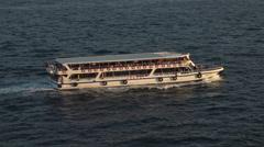 Istanbul Turkey passenger ferry boat Bosporus Strait 4K 086 Stock Footage