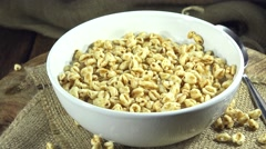 Rotating honey wheats (not loopable) Stock Footage