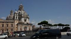 Rome Italy Cupola near Vittorio Emanuele II 4K 086 Stock Footage