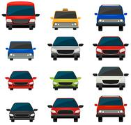 Set of tinted vehicles - stock illustration