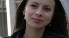 Beautiful modest girl Stock Footage