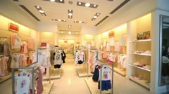 Hall in Children Gallery Jakimanka - one of largest in Europe Stock Footage