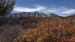 Beautiful fall autumn colors Mnt Nebo Utah 4K 024 Stock Footage