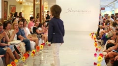 Boys on catwalk during Fashion children clothing Stock Footage