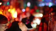 Young barmen work in Theme bar in Moscow, Russia Stock Footage