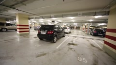 Indoor car parking in Residential Complex House in Sokolniki Arkistovideo