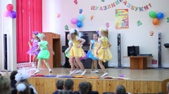 Stock Video Footage of Girls dance at holiday of Alphabet in School No. 1349.