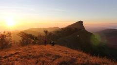 Morning Light peak mountain monjong ChiangMai Thailand Stock Footage