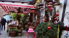 Yuletide at handwerkerhof in nuremberg, franconia, germany Stock Footage