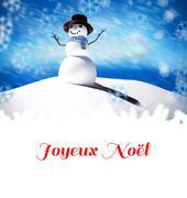 Composite image of joyeux noel Stock Illustration