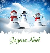 Composite image of joyeux noel - stock illustration