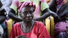 Africa village Cambessi woman Guinea Bisseau close up Stock Footage