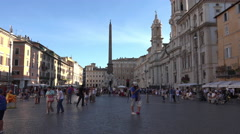 Rome Italy historical Piazza Navona tourists 4K 037 Stock Footage