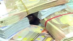 Rotating euro banknotes (loopable) Stock Footage