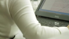 Close Up Shot of a professional female worker in front of laptop Stock Footage