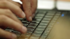 Close Up of a professional worker handling a laptop - stock footage