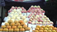 Stock Video Footage of Fruit funny piled