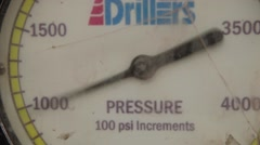 Close Up Shot of a Pressure Measurement Tool at an oil and gas well Stock Footage