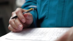 Close Up Shot of a form being filled out Stock Footage