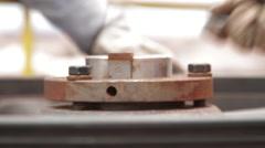 Close Up Shot of screws being screwed - stock footage