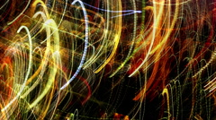 Experimental Abstract Light Patterns created from Long Exposures Stock Footage
