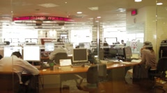 Perspective Shot of some offices inside Colombian Stock Market headquarters Stock Footage
