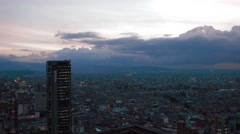 Panoramic Shot of Downtown Bogota Stock Footage