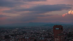 Panoramic Shot of Caracas Avenue, Bogota Stock Footage