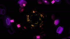 Neon Pattern 003 F Float Wave GSC 1080p - stock footage
