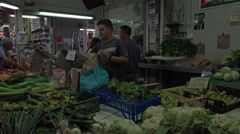 Rome Italy indoor fresh vegetable fruit market 4K 059 Stock Footage