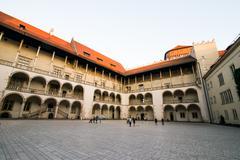 royal palace in Wawe - stock photo