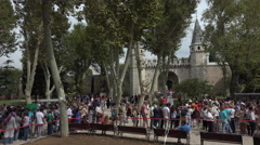 Istanbul Turkey tourist line Topkapi Palace fast 4K 035 Stock Footage