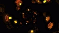 Neon Pattern 003 F Float Wave SC - stock footage