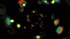 Neon Pattern 003 F Float Wave TC 1080p - stock footage