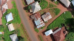 Aerial African Native Village Cambessi Guinea Bissau Stock Footage