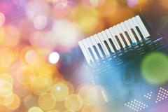 accordion - stock photo