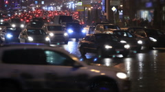 Night traffic in the center of the city - stock footage